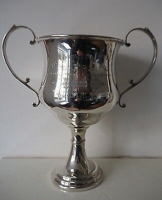 Solid Silver Large Trophy Cup PALFREY ALLOTMENTS CUP 1964 593 GRAMS