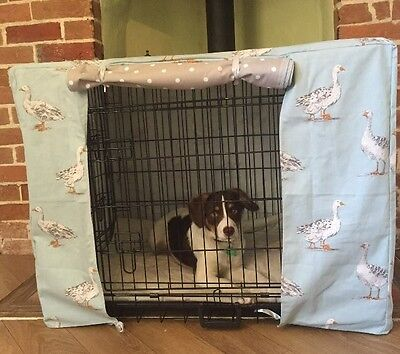 Dog/ Puppy crate cover Made To Order MEDIUM Size Cage spaniel Beagle Shihtzu
