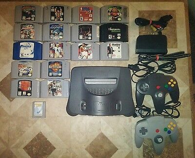 * Nintendo 64 - N64 Console With Cords And 16 Game Lot / Bundle ** Usa Seller **