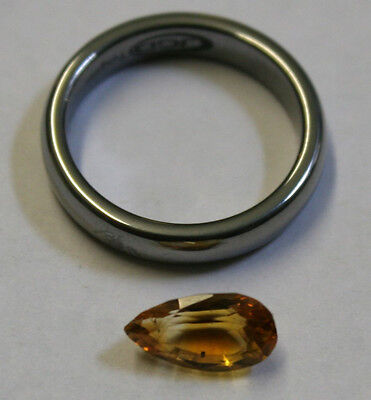 Natural Yellow Citrine Gemstone 6X11Mm Tear-Drop Faceted 1.8Ct Gem Ci32
