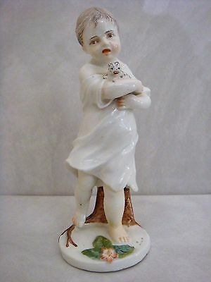 Hochst Porcelain One Of The Most Adorable Figures - Girl Holding Cat C1770