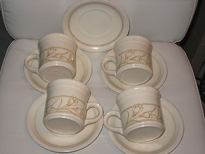 Staffordshire Biltons Spring Bouquet 4 CUPS AND SAUCERS