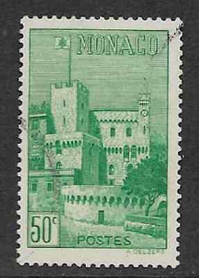 MONACO POSTAGE USED DEFINITIVE STAMP 1939 CLOCK TOWER OF THE PALACE 50c