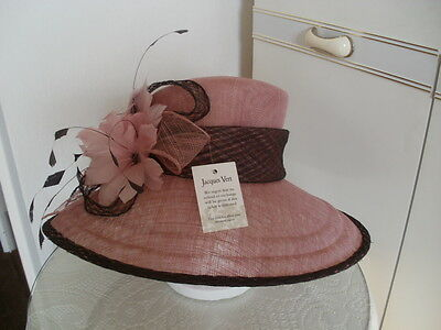Jacques Vert - NEW - Espresso Range (pink and brown) special occasion hat
