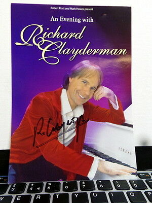 Richard Clayderman - Classical Pianist - Signed Theatre Flyer 2005 - COA