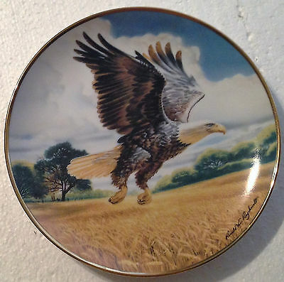 Collectable Eagle Plate 8 1/4 Inches - Amber Waves Of Grain - Franklin Mint