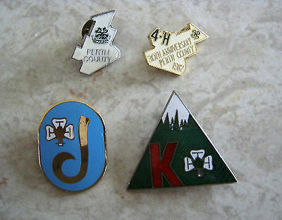 4H pins 4-H Perth County / FREE SHIPPING