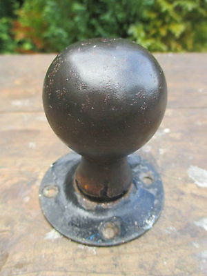 Vintage Metal Door Knob With Collar