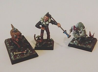 Mordheim undead warband necromancer ghoul dire wolf painted and converted