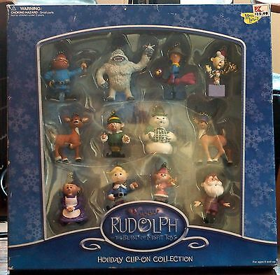 Memory Lane! Rudolph and The Island of Misfit Toys 12 Pc Clip-On Ornament Set!