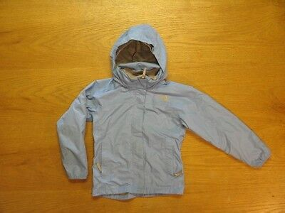 NORTH FACE HYVENT WIND RAIN JACKET STORM COAT- Purple Hooded Packable-Grls Small