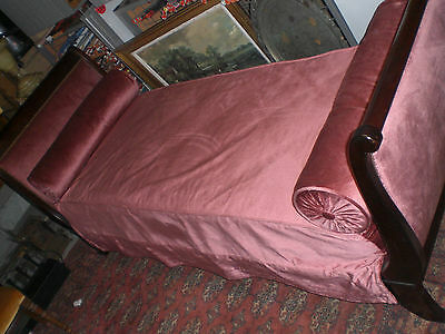 Victorian Rosewood French Sleigh Bed/chaise With Accessories