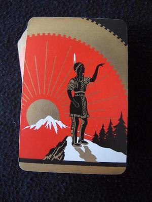 VINTAGE 1930's PACK DECK of UNIVERSAL PLAYING CARDS - NATIVE AMERICAN WOMAN -
