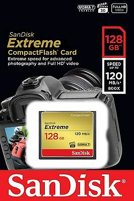 SANDISK 128GB Extreme 120MB/s Compact Flash Card SDCFXSB-128G-G46