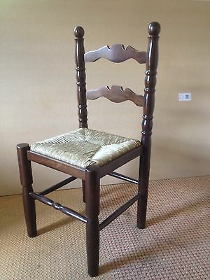 Ladder Back Chair With Rush Seat