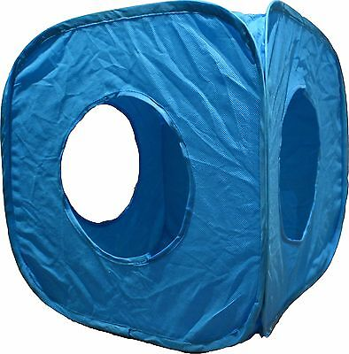 Pop Up Cat Play Cube - Animal/Kitten/Gift/Fun/ - Blue!