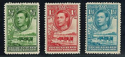 Bechuanaland Sc# 124-126 MH George VI, Cattle, Baobad (1938)Protectorate Postage