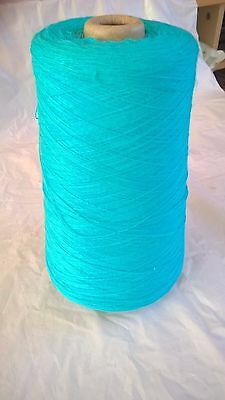 Turquoise 1ply 100% acrylic  381g  Hand or Machine Knitting Yarn on Cone LOT 30