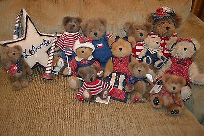 Boyds Bears Patriotic Americana (Lot of 12 bears and accesories)