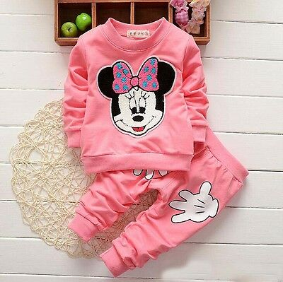Girls Pink Minnie Mouse Tracksuit Outfit Set 12-18, 18-24 Months 2-3 3-4 Years