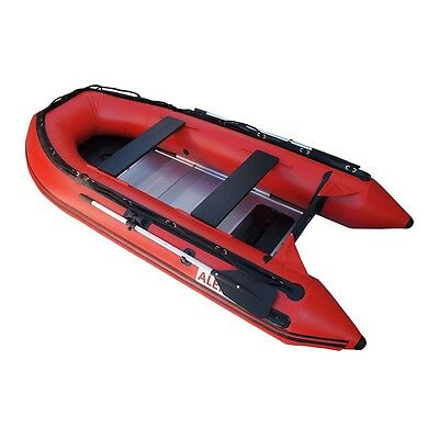 ALEKO Raft Fishing Inflatable Red Boat 10.5ft With Aluminum Floor