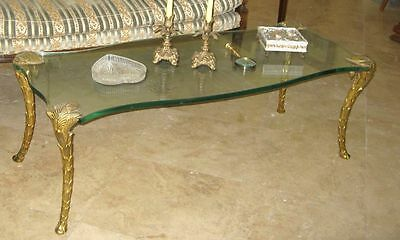 Hollywood Regency Mid-Century COCKTAIL COFFEE TABLE Jansen Stamped FRANCE GUERIN