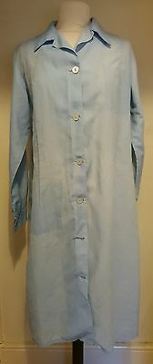 1970's VINTAGE PALE BLUE NYLON LONG SLEEVE OVERALL size L