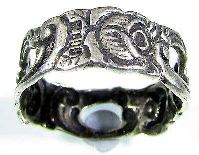 Stunning Post Medieval Open-Work Silver Ring With Rose Motifs - 1879