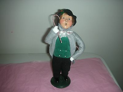 NR Byers Choice 1996 Christmas Caroler Boy with Candy Canes The Carolers
