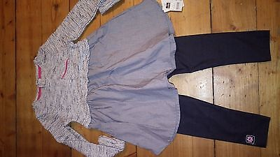 BNWT top and leggings size 2-3