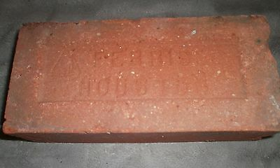 "Antique Rustic  ""ferris Houston With Sailboat "" Texas  Brick"