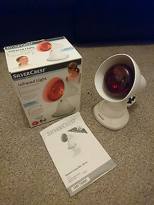 Silvercrest Infrared Therapeutic Muscle Pain Relief Heat Lamp Light Philips Bulb