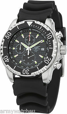 Army Watch Diver Chronograph 200 meters Date C1-Light Silicone Strap Military
