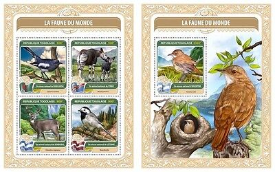 Z08 TG16401ab TOGO 2016 National bird of Argentina MNH Set