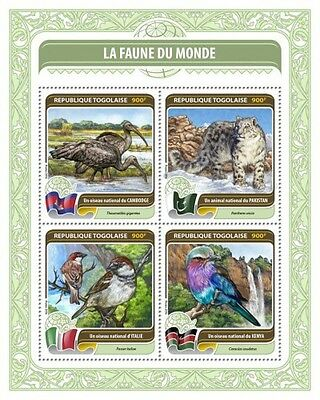 Z08 TG16409a TOGO 2016 Fauna of the World MNH