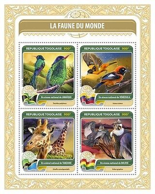 Z08 TG16411a TOGO 2016 Fauna of the World MNH
