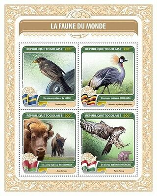 Z08 TG16413a TOGO 2016 Fauna of the World MNH