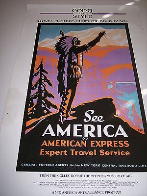 """Going in Style- See America by American Express- NY Central RR- 20"""" x33"""""""