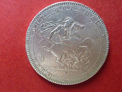 George Iii - Silver Crown - 1818 - Used But Good Condition