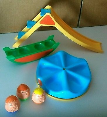 VINTAGE AIRFIX WEEBLES PLAYGROUND slide see saw 3 people