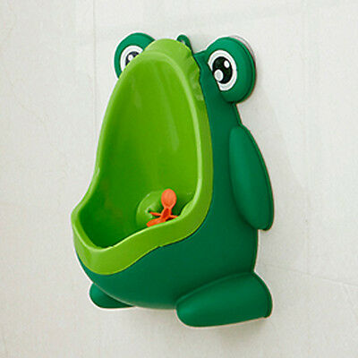 Children Frog Shaped Wall hung Urinal toilet training Urine green boy Pee