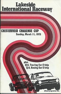 11 March 1973 Lakeside Chesterfield Challenge Cup Official Programme