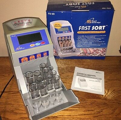 Royal Sovereign (FS-3D) – Digital 4-Row Fast Coin Sorter /Counter