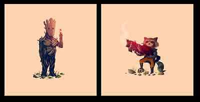What a Bunch of A-Holes - Olly Moss - Guardians of the Galaxy - Groot Rocket