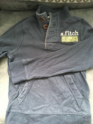 Abercrombie & Fitch Kids Hoodie Navy Blue Size M