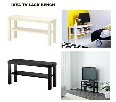 ikea lack tv bank fernsehtisch lowboard hifi regal 90 x 26 cm weiss tv bank neu eur 17 99. Black Bedroom Furniture Sets. Home Design Ideas