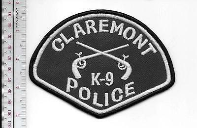 K-9 Police California Claremont Police Department Canine Unit Officer & Dog Grey