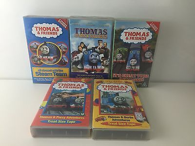 Lot Of 5 Thomas The Tank Engine And Friends Vhs Videos - Magic Railroad Steam