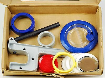 """Badge-A-Minit 2-1/4"""" Starter Button Kit Hand Press Assembly Rings CIRCLE CUTTER"""