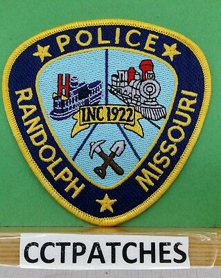 Randolph, Missouri Police Shoulder Patch Mo